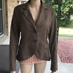 MNG by Mango Brown Sport Blazer with Elbow Patches